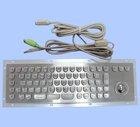 metal keyboard with trackball for kiosk