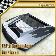 For Nissan 240SX S14 S14A S14K DM Style Vented Carbon Hood Bonnet