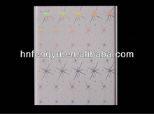 Bling Shining Star designs Hot stamping PVC ceiling panel & Transfer PVC wall panel