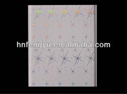 Bling Shining Star designs Hot stamping PVC ceiling panel & Transfer PVC wall panel