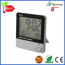 humidity meter and time display