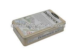 High quality game puzzle tin box,game card tin box