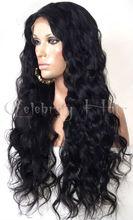 """HOT!!! cheap long body wave 1b 26"""" 100% brazilian virgin human hair 150% density lace front wig"""