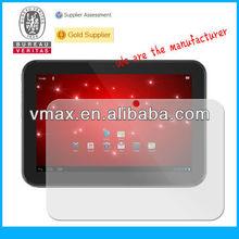 Screen protector & tablet pc screen guard for Toshiba AT305 oem/odm (Anti-Fingerprint)