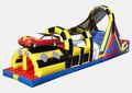 Parcours d'obstacles gonflables géants, aire de jeux gonflables cours d'attractions. gewasbestrijdingsmiddelen enfants aire de jeux