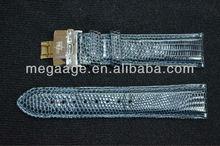 Good quality genuine lizard leather watch belt