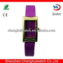 charm purple lady Leather Western Wrist Watches