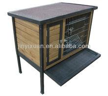 Wooden Rabbit House with Asphalt Roof / Custom Rabbit House for Sale / Rabbit Hutch with Tray