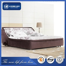 3G101# white leather bed,cheap bedroom furniture,princess style bed
