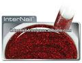 uv color escarcha gel de fuego de color rojo para las uñas
