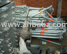layher allround used modular scaffolding - andamio multidireccional - echafaudage universel