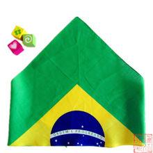Brazilian flag Unique style printed headwear sports triangular bandana