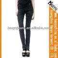 2015 şık siyah kız dar kot pantolon, toptan kaliteli moda siyah kot( hyw325)