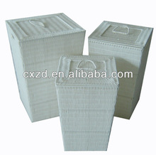 Popular Pure white PE rattan basket
