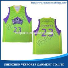 OEM Wholesale Polyester Basketball Jersey
