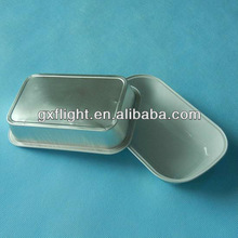 White coated aluminum foil container airline food pack