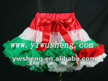 2013 girls christmas pettiskirts kids multicolor chiffon petticoats girls sexy tutu skirts