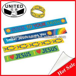 Customized Slap Wrap Reflective Promotional Snap Bracelet