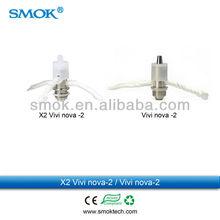 2013 hot selling vaporizers Smoktech wholesale X2 Giant vivi nova 4ml 510 threading vivi nova atomizer rotatable