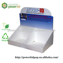 retail 2 cell business card PDQ display cardboard carton boxes display stand
