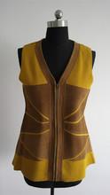 Sleeveless Cardigan Wool Sweater Design for Women