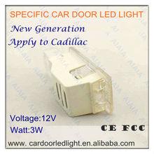 car door led logo projector light for Cadillac/ wireless car door led ghost shadow light