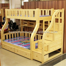 Kids bedroom set furniture solid wood bunk bed mother children bunk bed furniture