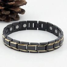 Male Lucky Charm Bio Health Magnetic Titanium Bracelet Jewelry