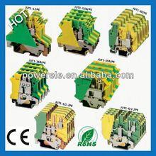 JUT1-2.5 PE Green/Yellow cage clamp terminal block adss