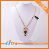 2013 Hot sale of leopard Head Pendant zinc alloy anime necklaces