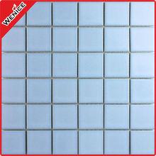 glazed interior acid-resistant and antibacterial light blue bathroom floor tiles ceramic mosaic pattern 48*48
