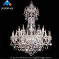 luxo cristal pingente candelabro de lâmpadas de vidro
