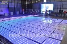 60x60cm 324leds toughened glass dance floor portable led dance floor