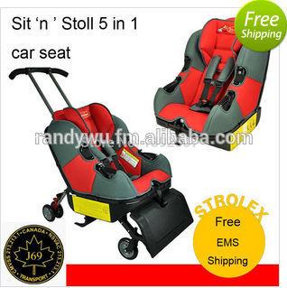 Sit pensión pensión y paseo, Sit'n'stroll, Sit 'n' paseo, Bebé de seguridad para niños cochecito del asiento de coche del asiento de vuelo 5 en 1
