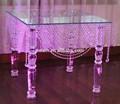 Hermoso de cristal tabla de la torta de la boda zt-151-2 decorar