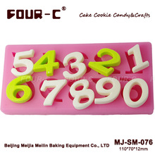 3D fondant silicone moulds,numbers chocolate molds, most popular sugarcraft molds