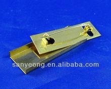 brooch backs / Brass brooch safety bar pin/brooch back pin_006