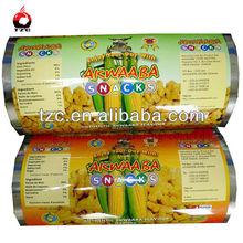 food grade streth plastic film for snack food packaging