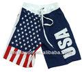 Mode américaine 2013 drapeau, hommes,' board shorts, shorts de plage