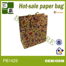 shanghai BEST STORE nice looking birthday kraft paper bag with twised kraft paper handle