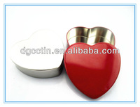 Promotional heart shape lip balm tin container