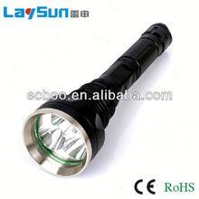 laysun aluminum alloy zoom focus glare long range outdoor waterproof maglite rechargeable flashlight 2 years warranty