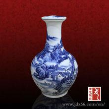 Jingdezhen wine bottle handmade antique wine wholesale mini liquor bottles with landscape design
