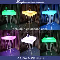 nightclub party acrylic led light cocktail bar table