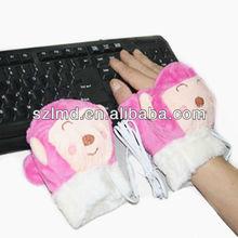 Los guantes de esquí con barato manoplas de punto climatizada manopla eléctrica calentador de la mano guantes