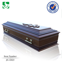 Hot Sale Solid Wood coffin for European Funeral