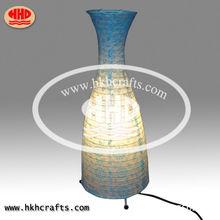 mesa de artesanía florero de la decoración de estilo de la lámpara de mesa lámpara de papel