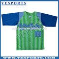 en polyester sublimé chandails de baseball maillots de baseball
