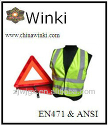 Car Emergency Kits,Safety Warning Triangle and Reflective Vest
