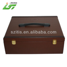 faux brown leather storage boxes